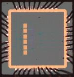 A 130-nm CMOS custom integrated circuit.