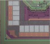 CMOS 65-nm RF-ASIC lohko.