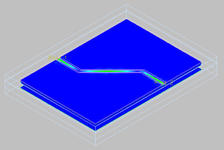 Co-planar waveguide EM-simulator 3D-view.