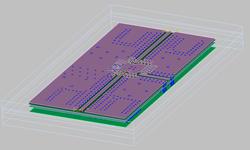 RF-PCB EM-simulaattori 3D-mallitus.
